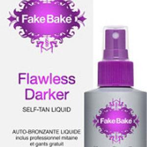 Fake Bake Makeup - Flawless Darker Self-Tan Liquid & Professional Mit